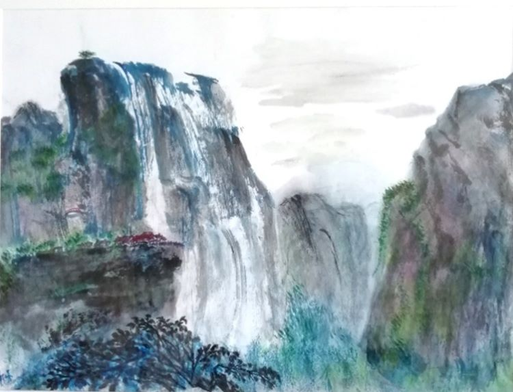 7 -Life in the Mountains by You-Jin Lou. ink on rice paper