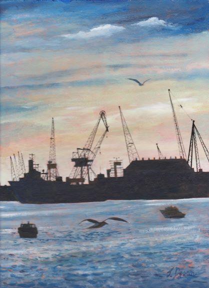 Jenny Dyson, Sunset, Wallsend Shipyard