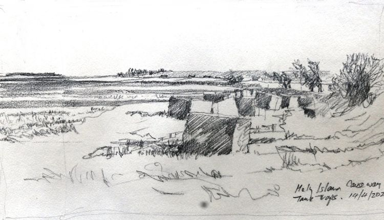 Willie Drea, Holy Island Causeway Blocks