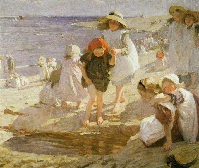the-beach-Laura Knight575