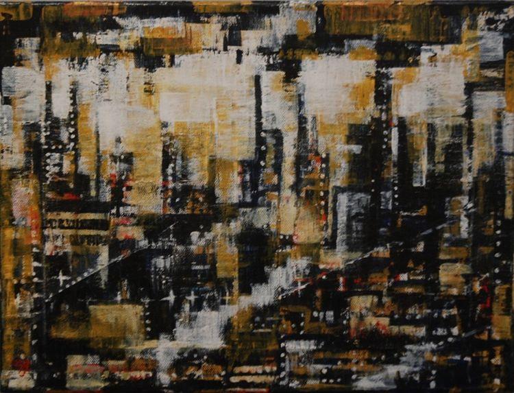 Industrial Landscape -mixed media- by Aubrey Anderson