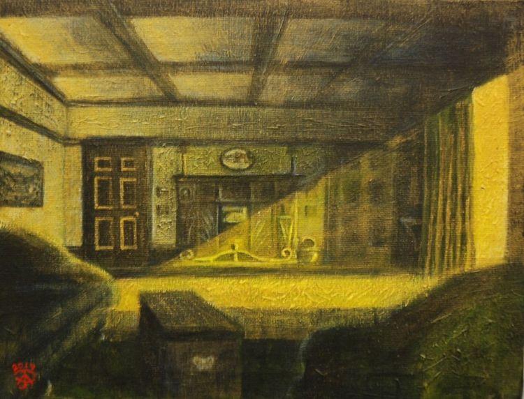 Interior -mixed media by Aubrey Anderson