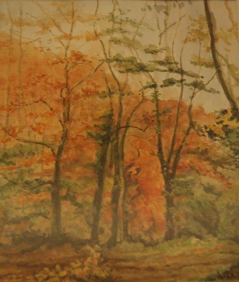 83 Late Autumn gouache by Anne Brown