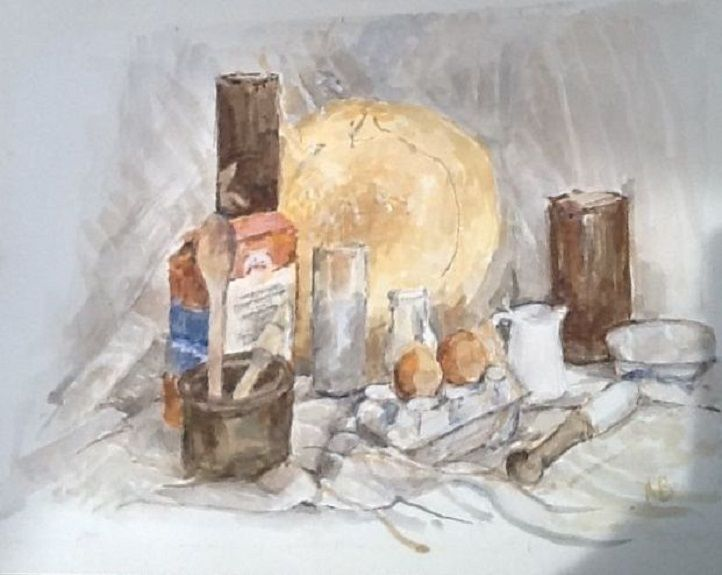 Baking (Still Life) by Anne Brown
