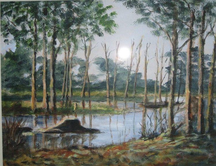 86 Arcot Lake, acrylic by Audrey Drynan
