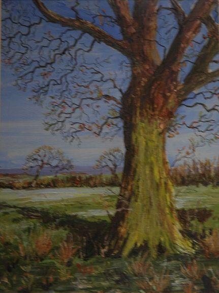 24 Tree pastel by Brian Wilson