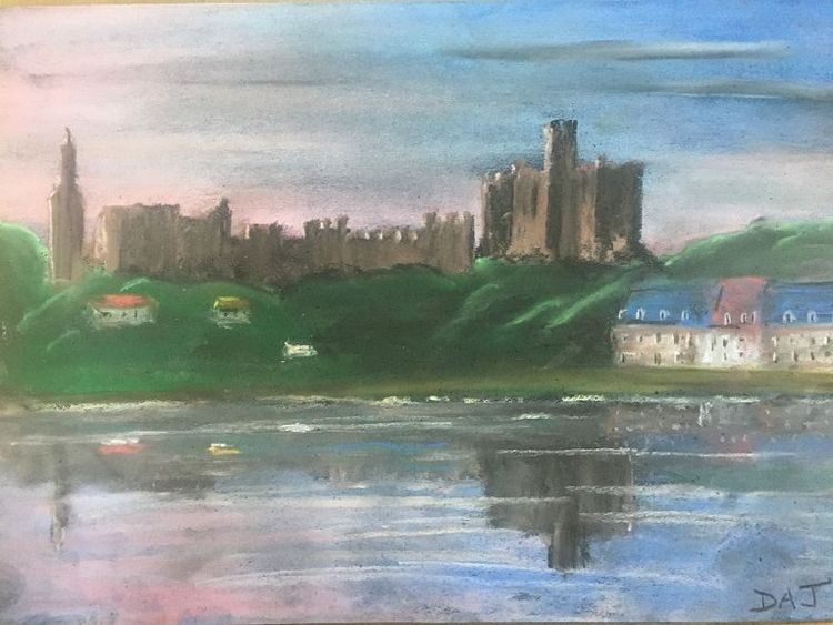 Warkworth Castle by Dougie Johnson