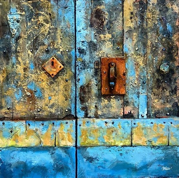 Door Textures -mixed media- by Harry Bell