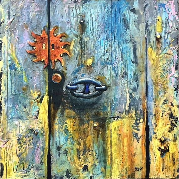 4 Roy's Italian Door -mixed media by Harry Bell