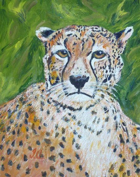 104 Cheetah -gouache by Irene Ayre