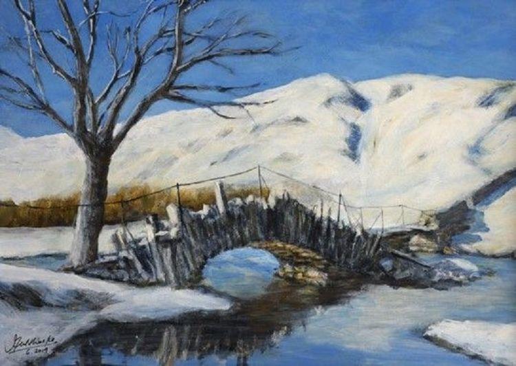 Slater's Bridge -acrylics by John Fulthorpe