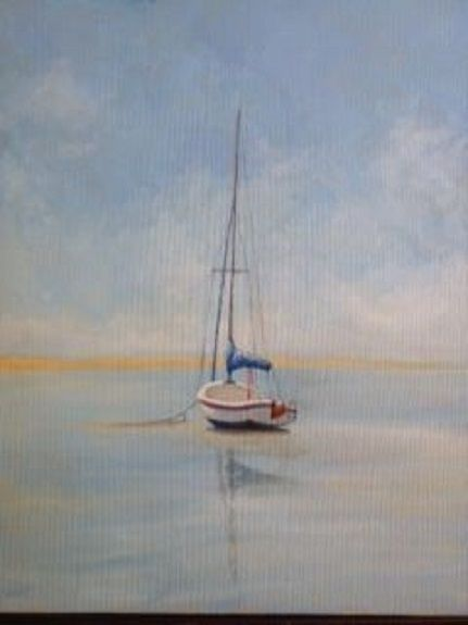 77 Waiting for the Tide -acrylics by John Fulthorpe