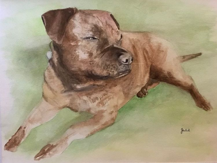 Bella -watercolour by Julie Manning