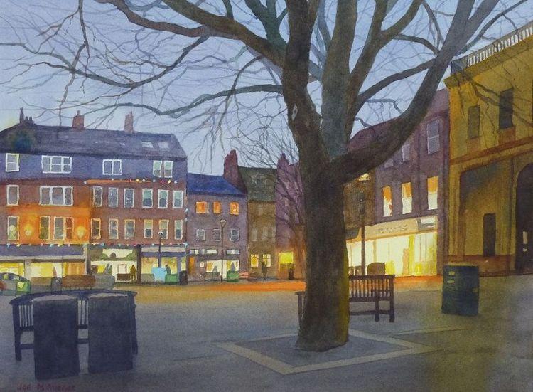 Twilight, Morpeth Market Place -by Joe McGregor