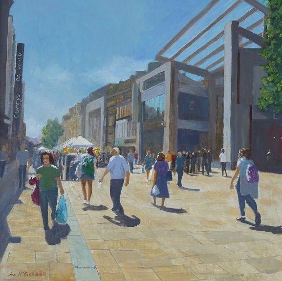 36 Northumberland Street -acrylic by Joe McGregor