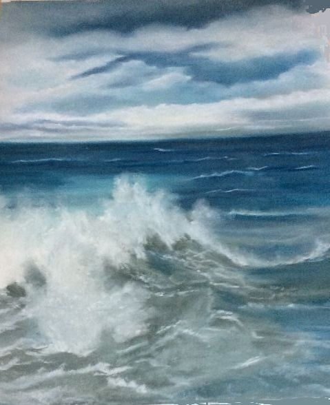 79 Stormy Sea -pastel by Margaret Richardson