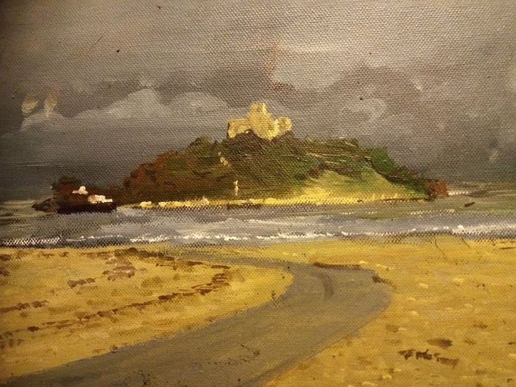St Michaels Mount acrylic by Brian Wilson
