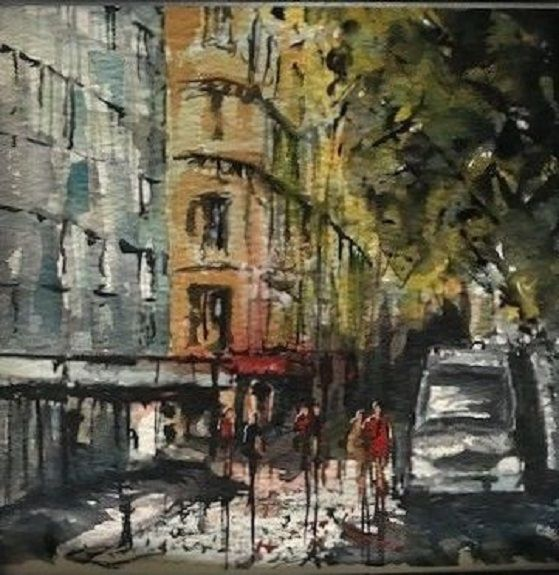 115 County Hotel, Westgate Road -watercolour by Tim Griffiths