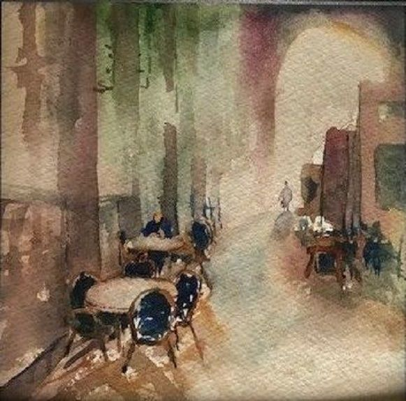 Central Station -watercolour by Tim Griffiths
