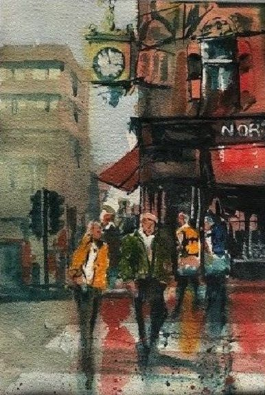 55 Northern Goldsmiths -watercolour by Tim Griffiths