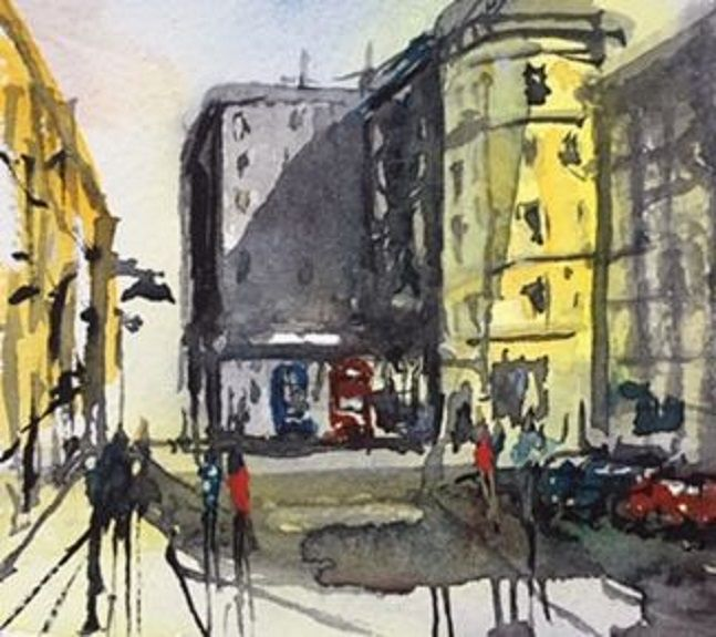 110 Pilgrim Street -watercolour- by Tim Griffiths