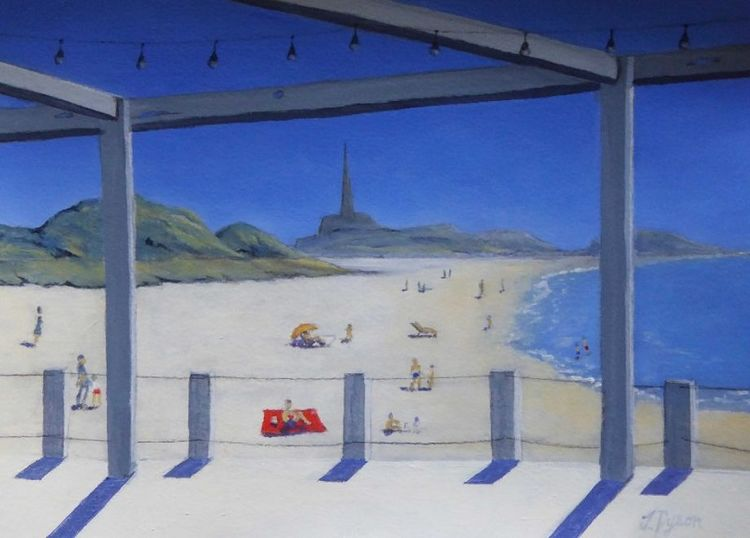 Tynemouth in the Summer Sun, oil painting by Jenny Dyson