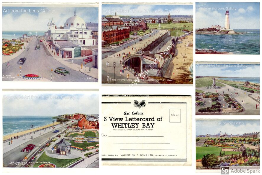 Whitley Bay 1950's letter card