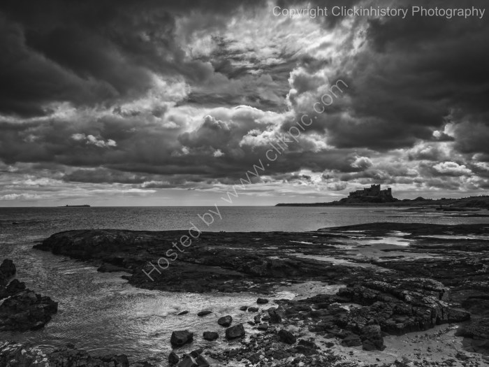 Storm over Bamburgh Castle