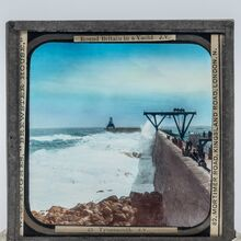 Hand painted view of the old Tynemouth Pier