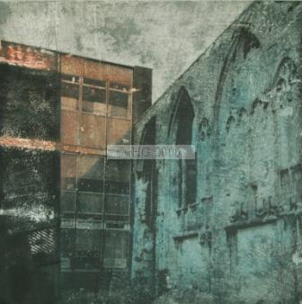 Forgotten I 35 x 35 cm mixed media on board
