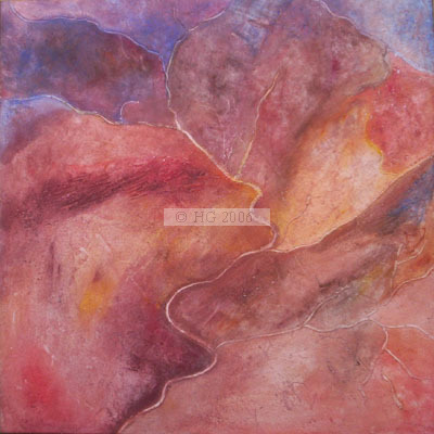 Outback from above VIII 70x70cm mixedmedia