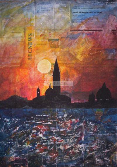 Ricordi di Venezia 30x40cm mixed media on canvas