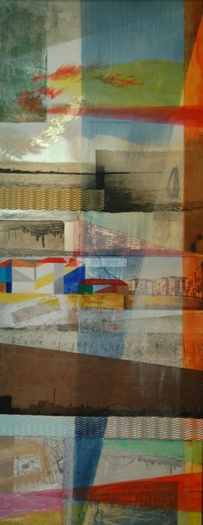 Venetian Recollection 40x100cm mixed media on board