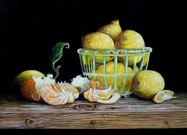 Lemons and Satsuma's    (SOLD)