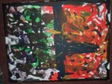 orange and green painting 1