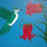 Hummingbird and Campanula