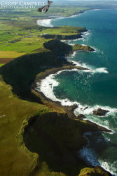 Giants Causeway from the Air