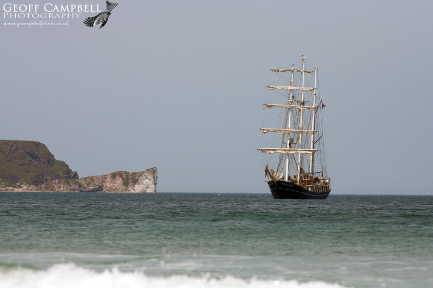 Tall Ship in Ballycastle Bay