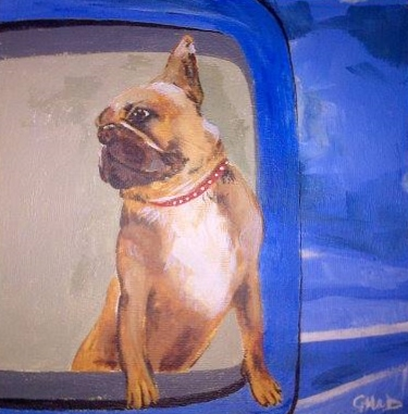 Pet Portrait of French Bulldog