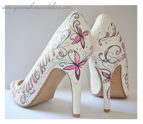 Hand Painted Bridal Shoes
