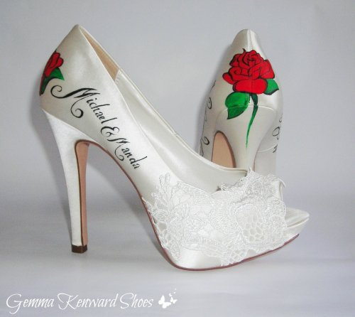 Red Rose Wedding Shoes