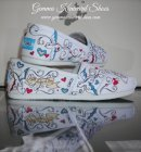 Hand Painted Wedding Toms Customised with Birds