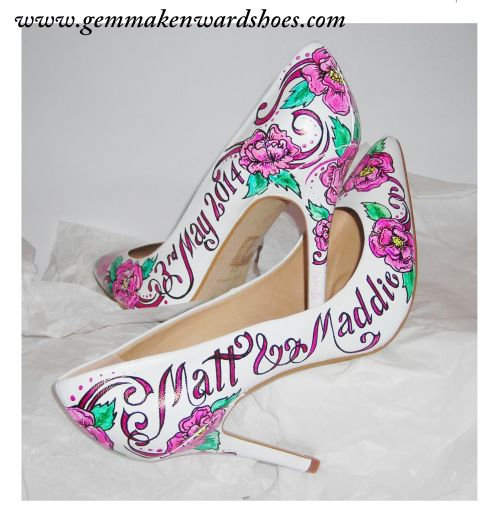 Wedding shoes With a Tattoo Twist