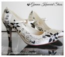 Black and white Mary Jane wedding shoes