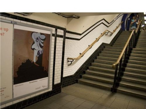 Art Below Exhibition in Camden Underground Station