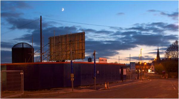 The moon over Bridge Street