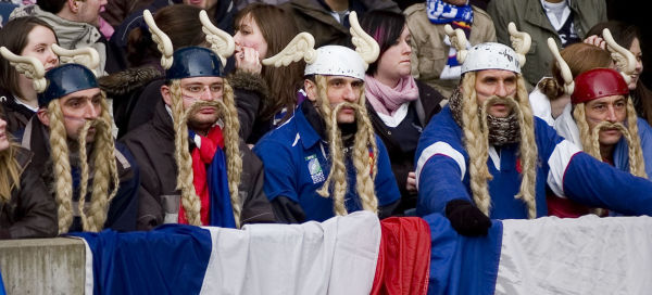 French rugby supporters