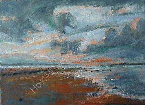 SUNSET OVER THE IRISH SEA,CUMBRIA