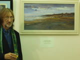 GEORGE and one of his AWARD WINNING OIILPAINTINGS  @ the BEECROFT GALLERY, Southend