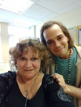 Annemarie with SAM BELYEA the Footwhisperer